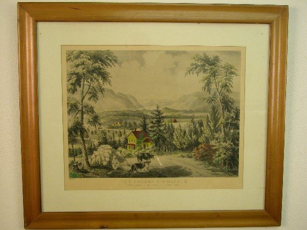 """2009: Currier and Ives print, """"The Hudson Hig"""