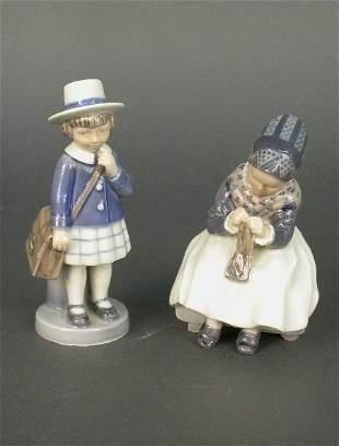 (2) Royal Copenhagen porcelain figures