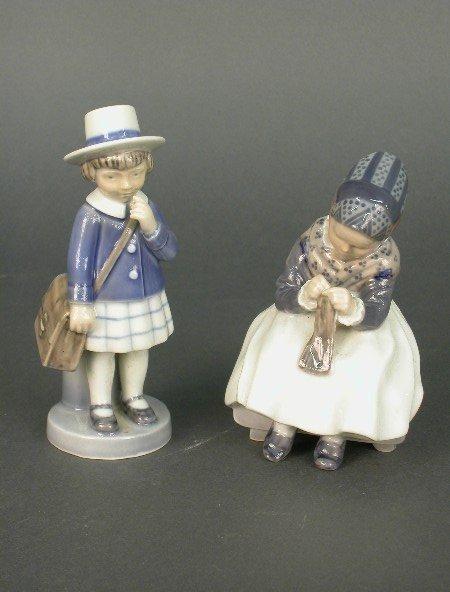 2012: (2) Royal Copenhagen porcelain figures