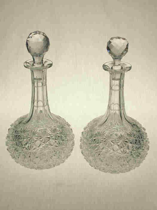 4: Pair American Brilliant Cut Glass