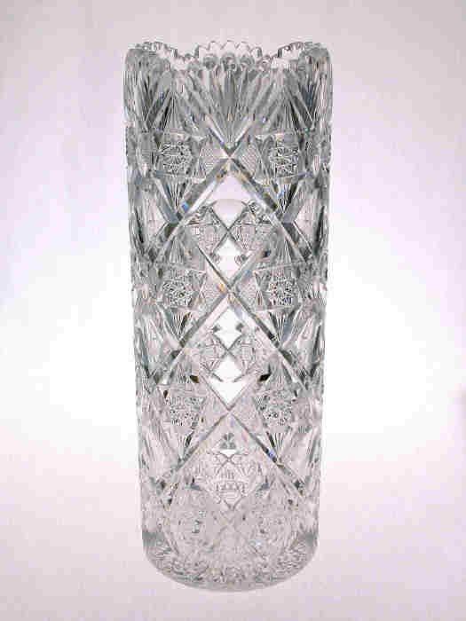 "11: American Brilliant Cut Glass 14"" Vase"