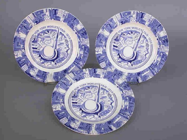15: 3 Plates from the 1939 World's Fair,