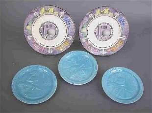 5 Plates 1939-40 NY World's Fair.