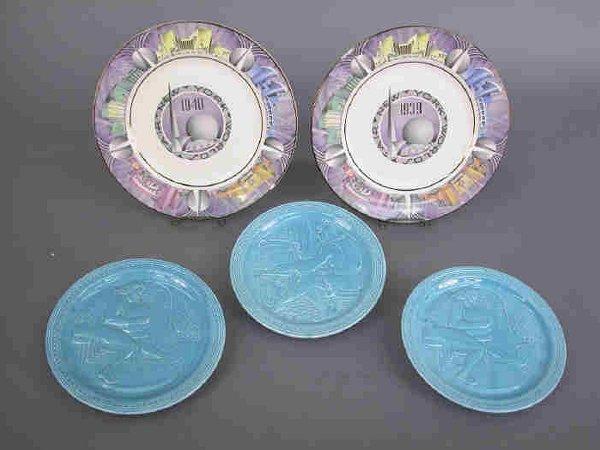 17: 5 Plates 1939-40 NY World's Fair.