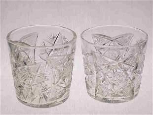 Pair American Brilliant Cut Glass tubs.