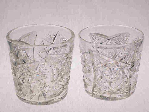 19: Pair American Brilliant Cut Glass tubs.