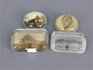 4 Paperweights, 1893 Columbian Expo.