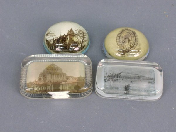 23: 4 Paperweights, 1893 Columbian Expo.