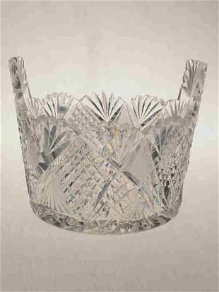 American Brilliant Cut Glass ice tub.