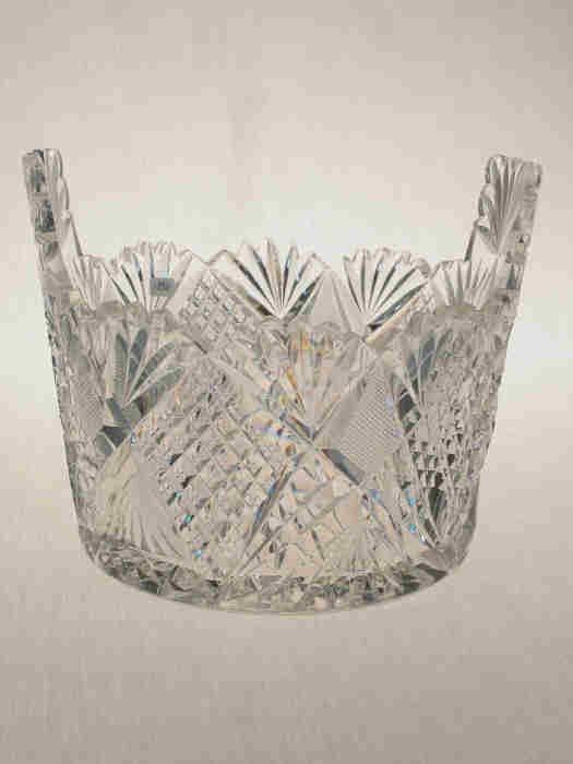 24: American Brilliant Cut Glass ice tub.
