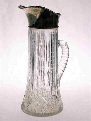 American Brilliant Cut Glass/sterling