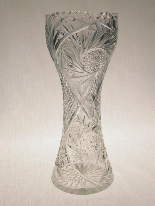 510: American Brilliant Cut Glass corset