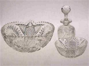 """3pcs. 1 """"Empress"""" patterned finger bowl"""