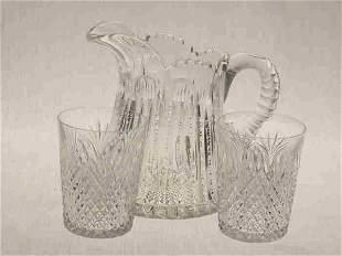 3pcs. American Brilliant Cut Glass.