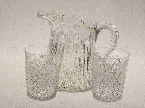 522: 3pcs. American Brilliant Cut Glass.