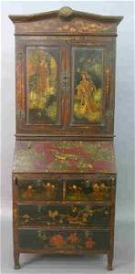 656: Early 20th C. Chinoiserie secrectary