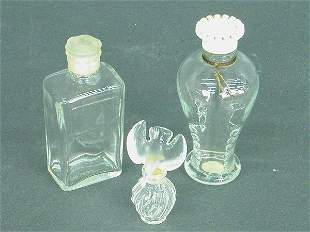 Small Lalique perfume bottle with bird