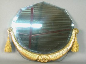 2318B: Bevel Glass Mirror Plate Topped by a C