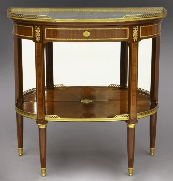 Louis xvi style demilune console table french louis xvi style demilune console table geotapseo Gallery