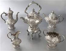 5 Pc English sterling silver tea and coffee set