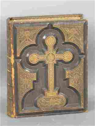 Holy Bible, full leather tooled and