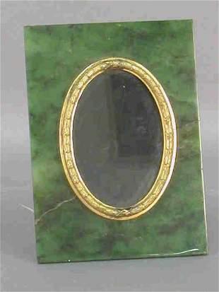 Jade frame with gilt center