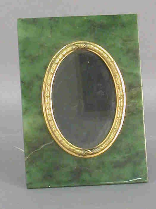 4: Jade frame with gilt center