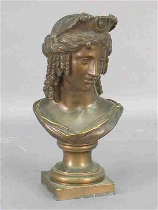 """Bronze of """"Isis"""", marked on the side."""