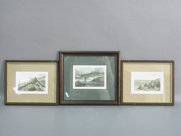 10B: Set of three English engravings in