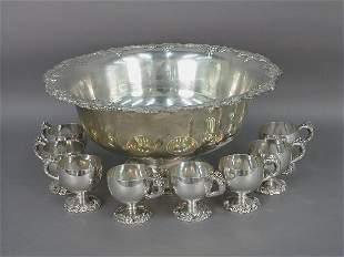 An International silverplate punch