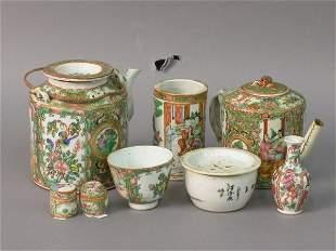 Eight Rose Medallion porcelains