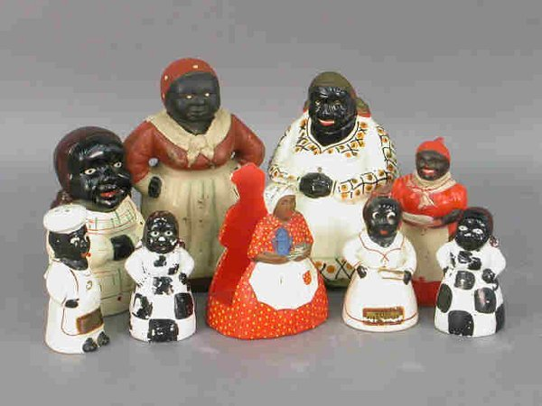 19: Nine Aunt Jemima / Mammy collectibles