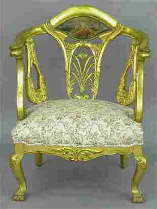 French style gilt arm chair.