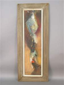 132: Attributed to Max Ernst oil on board