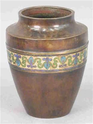 (2) Chinese bronze vases - One