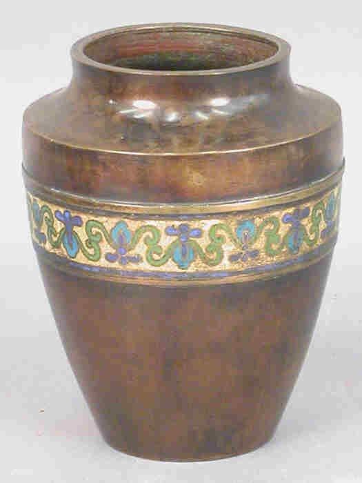 303: (2) Chinese bronze vases - One