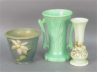 3pcs. American Art pottery, Roseville