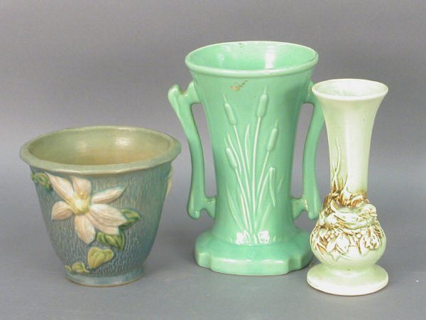 306: 3pcs. American Art pottery,  Roseville