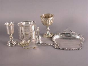 Seven siverplate pieces including