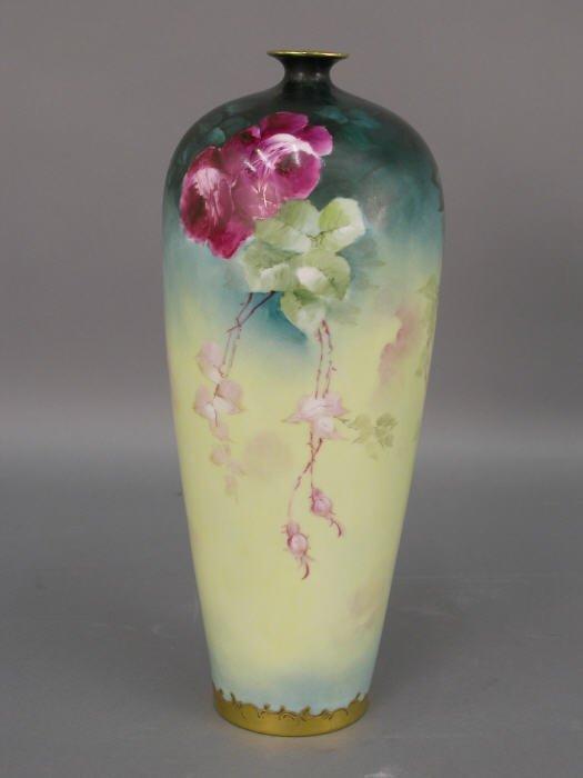 317: William Guerin & Co. Limoges vase,