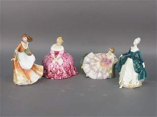Four signed Royal Doulton figurines