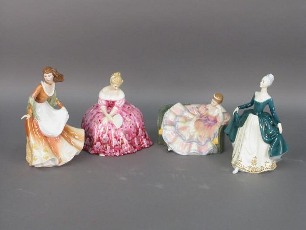 322: Four signed Royal Doulton figurines