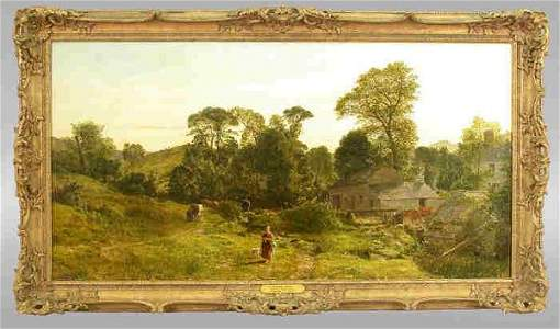 459: Signed Thomas Danby (LL) oil on canvas
