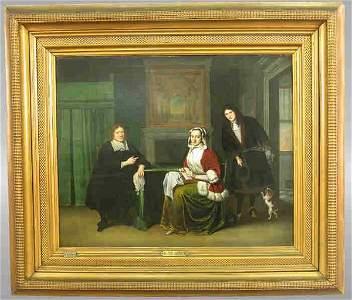 462: Signed Jacob Ochtervelt (LL) oil on