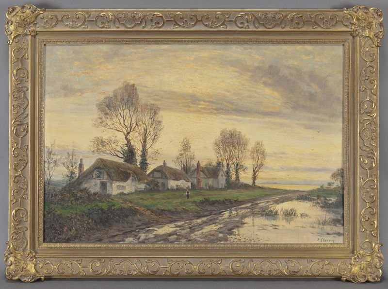"Daniel Sherrin, ""Country Landscape"" oil on canvas."