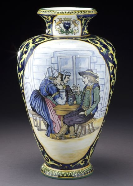 Henriot Quimper Decor Riche vase,