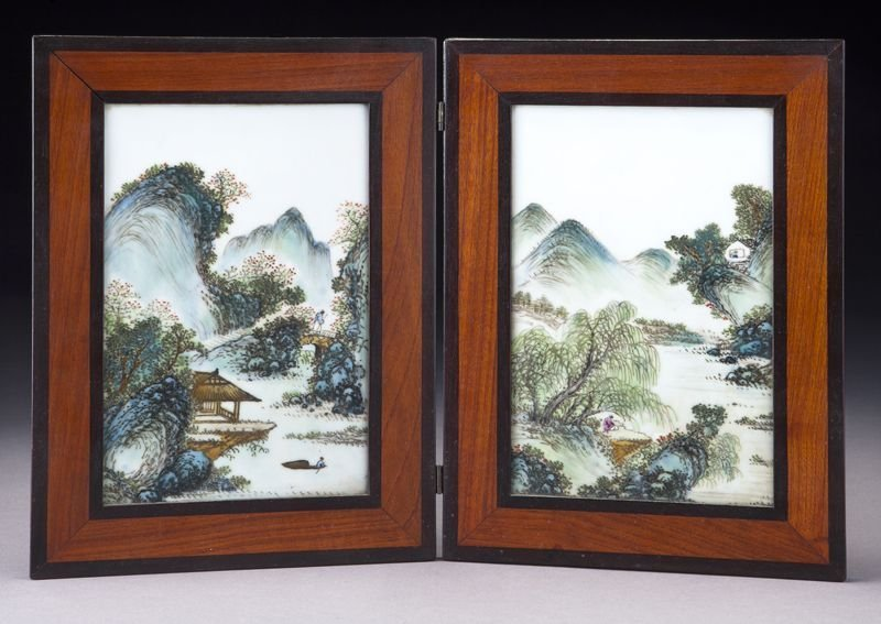 Pr. Chinese Republic porcelain plaques