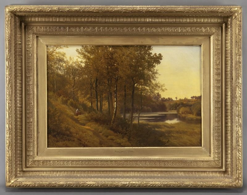 "Henry Cheadle ""Hillage Coppice Nr. Stourport"" oil"