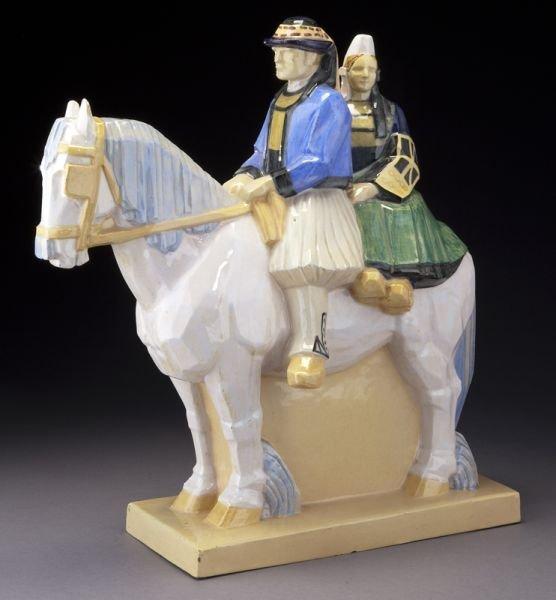 HenRiot Quimper Bachelet horse statuette