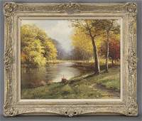 "Robert William Wood, ""Golden Hues"" oil on canvas,"